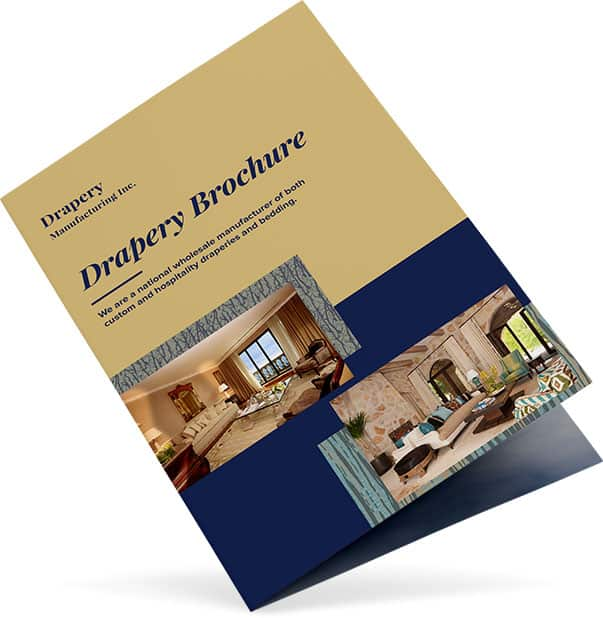 The drapery brochure from Drapery Manufacturing Inc.